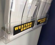 Western Union unterzeichnen Lizenzfreie Stockfotos
