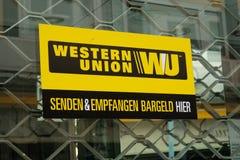 Western Union unterzeichnen Stockfotografie