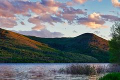 Western USA Mountain Lake Before Dark royalty free stock photography