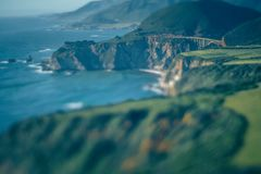 Western USA Pacific coast in California Royalty Free Stock Photography