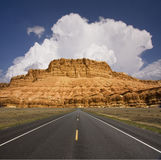 Western USA Road Way Landscape Stock Photo