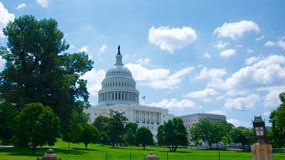 Western View of US Capitol Building Royalty Free Stock Photos