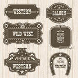 Western vintage labels  for design.Vector frames Royalty Free Stock Photos