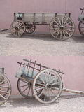 Western wagon. A couple of pictures in ONE of western, rustic wagons, photographed in Tombstone Arizona stock image