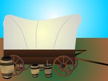 Western wagon train  Stock Photos