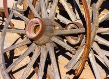 Western Wagon Wheels Royalty Free Stock Photography