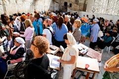 The Western or Wailing Wall in Jerusalem, Israel. JERUSALEM  - NOVEMBER 8: People pray at the Western Wall on Nov. 8, 2010 in Jerusalem, Israel. Jewish shrine Royalty Free Stock Photo