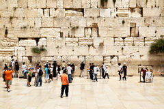 Western Wall. JERUSALEM - MAY 20: Palmers near The Western Wall, May 20, 2009 in Jerusalem, Israel. The Western Wall is the most sacred site in Judaism Royalty Free Stock Image