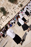 The Western Wall. Praying at the Western Wall in Jerusalem Stock Photos
