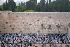 The Western Wall. (The Kotel), is a retaining wall in Jerusalem that dates from the time of the Jewish Second Temple (515 BCE - 70 CE). It is sometimes referred Stock Images