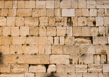 The Western Wall. The historic Western Wall in the old city of jerusalem Stock Photo