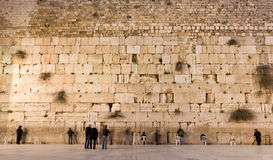 The Western Wall. The historic Western Wall in the old city of jerusalem Stock Photos