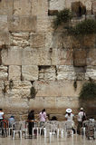 The western wall. Women pray at the great western wall Stock Photo