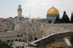 The western wall. A look over the western wall and El Aktza Stock Image