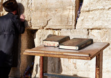 The Western Wall also known as Wailing Wall or Kotel in Jerusal Royalty Free Stock Photography