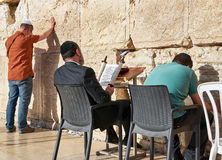 The Western Wall also known as Wailing Wall or Kotel in Jerusal Royalty Free Stock Photo