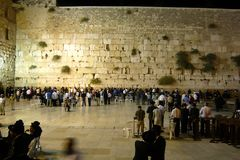 Western Wall also known as Wailing Wall or Kotel in Jerusalem, Israel. The Western Wall is the most sacred place for all jewish people in the world stock image