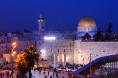 Western Wall And Dome Of The Rock Royalty Free Stock Photos