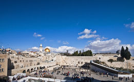 Western wall and dome of the rock Stock Image