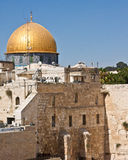 Western Wall and the Dome of the Rock Stock Photo