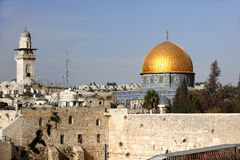 Western Wall and Dome of the Rock Stock Photo