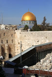 Western Wall and Dome of the Rock Royalty Free Stock Images