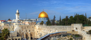 Western Wall and Dome of the Rock Royalty Free Stock Photography