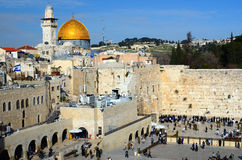 Western Wall and Dome of the Rock Stock Photos