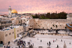 Western Wall and Dome of the Rock, Jerusalem, Israel Stock Image