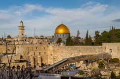 Western Wall and Dome of the Rock, Jerusalem Royalty Free Stock Image