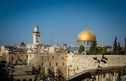 The Western Wall, Dome of the Rock in Jerusalem Stock Photo