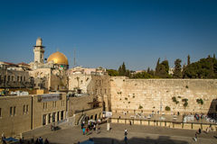 The Western Wall, Dome of the Rock, Old City of Jerusalem Royalty Free Stock Photos