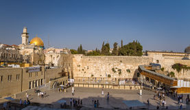 The Western Wall, Dome of the Rock, Old City of Jerusalem Stock Photography