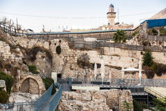 Western Wall Excavation Site, Jerusalem Stock Photography