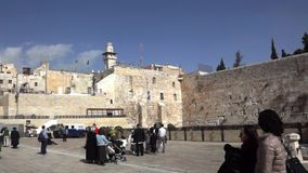 The Western Wall stock video