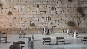 The Western Wall in Israel stock footage