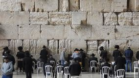 The Western Wall in Israel stock video