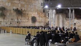 The Western Wall in Israel stock video footage