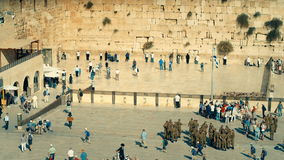 The Western Wall, Israel stock video
