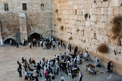 Western Wall, Jerusalem. JERUSALEM - JANUARY 6: Jews pray near the Western Wall Stock Photos