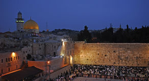 Western wall in Jerusalem. Picture of a Western Wall and the Dome of the rock in Jerusalem Stock Photography