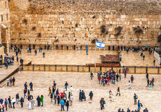 The Western Wall, Jerusalem. Old city Stock Images