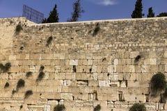 Western Wall in Jerusalem. Western Wall an important jewish religious site  Jerusalem. Israel Royalty Free Stock Photo