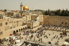 Western Wall  in Jerusalem, Israel. JERUSALEM - APRIL 02: Orthodox Jewish Pray at the Western Wall during the holiday of Passover on April 02 2010 in Jerusalem Royalty Free Stock Photography