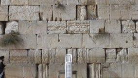 The Western Wall, Jerusalem, Israel stock video