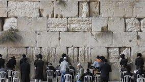 The Western Wall, Jerusalem, Israel stock video footage