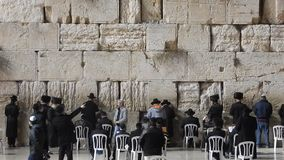The Western Wall, Jerusalem, Israel stock footage