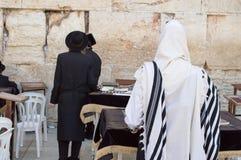 Western wall. Jerusalem, Israel - May 23 , 2014: Jewish worshipers pray at the Wailing Wall in Jerusalem royalty free stock photography
