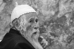 Western Wall, Jerusalem, Israel, 03.04.2015, very old orthodox j. Western Wall, Jerusalem, Israel 03.04.2015: Western Wall Jerusalem is also called the wailing Stock Photos