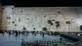 Western Wall in Jerusalem at Night Royalty Free Stock Image